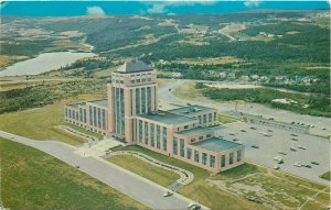 St. John`s Newfoundland aerial view of Confederation Building Canada