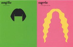 French Vs American Ladies Hair Hairdresser Style Comic Postcard