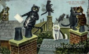 Artist Louis Wain Cat 1909 light corner and edge wear, postal used 1909