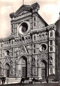 Italy Old Vintage Antique Post Card Firenze Facciata della Cattedrale Postal ...