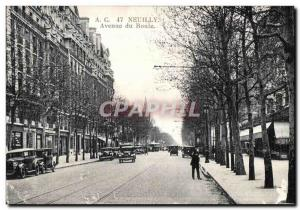 Old Postcard Neuilly Avenue Roule