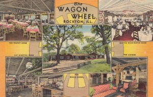 ROCKTON, Illinois, 1930-40s ; The Wagon Wheel, 5-views