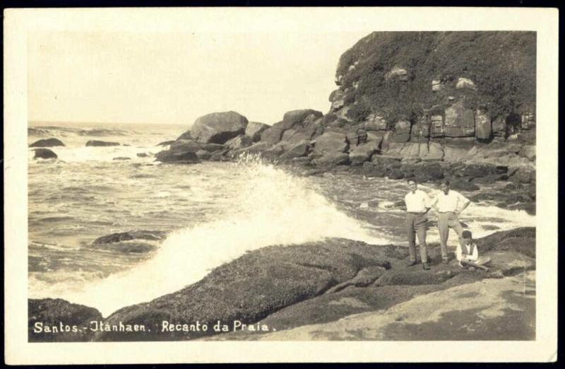 brazil, SANTOS, Itanhaen, Recanto da Praia (1930s) RPPC