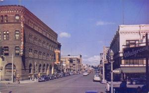 Boise ID~Idaho Street~Walgreen's~Schubach's~Idaho Power~1940-50s Cars~Postcard