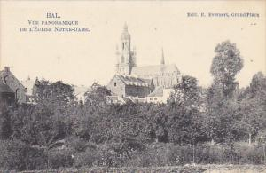 Belgium Halle Vue Panoramique De L'Eglise Notre-Dame 1920