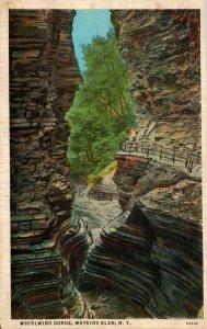 New York Watkins Glen Whirlwind Gorge 1936 Curteich