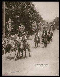 Austria 1908 Kaiser Franz Joseph Huldigungs Festival RPPC Moravia 94836
