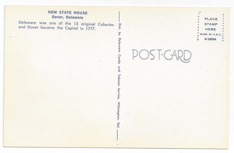Dover DE New State House Vintage Postcard