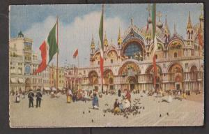 Chiesa and Piszza S. Marco - Venice Italy - Unused 1910s