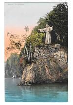Switzerland Luzern Christus J Vetter Statue of Christ Lake Lucerne Vtg Postcard