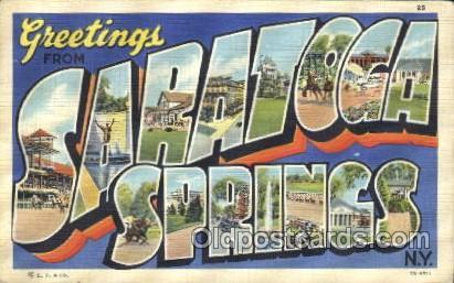 Saratoga Springs, New York, Usa Large Letter Town, Towns, Postcard Postcards ...