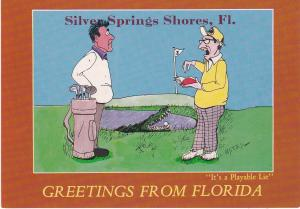 Post Card Greetings from Florida Its a terrible lie