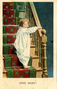 Children - Good Night!   Girl on Stairway