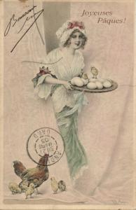 M.M. Vienne Series 138 Artist Signed R.R. Wichera, Easter (1903) Postcard