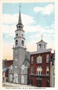 B48/ Frederick Maryland Md Postcard c10 Trinity Chapel I.O.O.F. Hall Odd Fellows