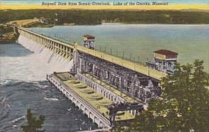 Bagnell Dam From Scenic Overlook Lake Of The Ozarks Missouri
