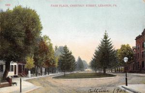 Lebanon Pennsylvania~Park Place Circle~Chestnut St~Dog & Lamp on Corners 1908
