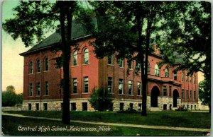 1910s Kalamazoo, Michigan Postcard Central High School  / Made in Germany