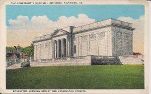 Richmond VA, Confederate Memorial Institute, ca. 1925, Civil War Interest