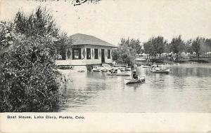 Boat House Lake Clara Pueblo Colorado CO 1908 Divided Back