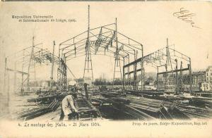 C-1905 Liege Belgium Exposition Halls Construction Occupational Worker 5522