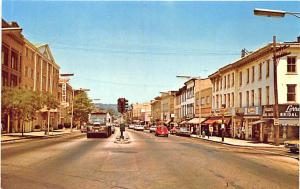 Danbury CT Street View Store Front's Old Cars Trucks VW Postcard