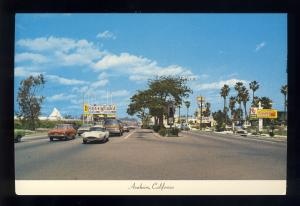 Anaheim, California/CA Postcard, Harbor Boulevard, Disneyland Sign, Near Mint!