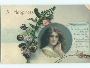 Divided-Back PRETTY WOMAN Risque Interest Postcard AA8026