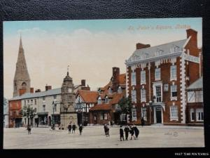 c1908 (Mint) St. Peter's Square - Ruthin - showing Castle Hotel & Animated Scene