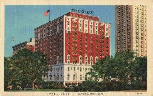 Postcard Hotel Olds Lansing Michigan