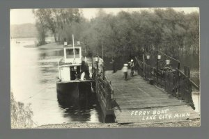 Lake City MINNESOTA RP1910 FERRY Steamboat MISSISSIPPI RIVER nr Red Wing Wabasha