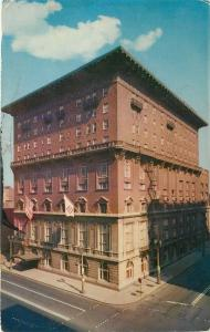 St Louis Missouri~Two Flags Over Missouri Athletic Club~Fire Escapes 1950s PC