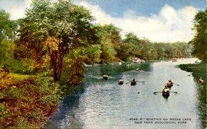 NY - New York City. Zoological Park, Boating on Bronx Lake