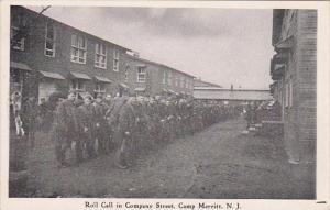 Military Roll Call In Company Street Camp Merrit New Jersey