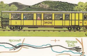 Leek & Manifold Valley Light Railway Train at Hulme End Station Postcard