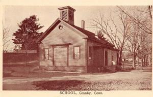 Granby Connecticut~Old School House~1908 B&W Postcard