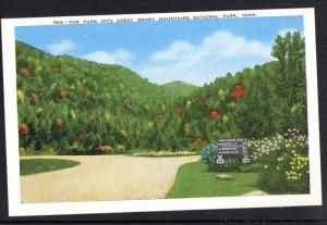 Linen colour PC Turn Into Great Smoky Mountains National Park, Tenn. , unused