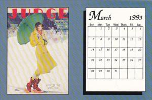 March 1993 Limited Editon Calendar Card
