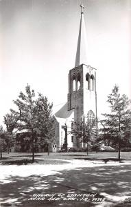 Red Oak Iowa~Church of Stanton~Tall Steeple~1950s Real Photo Postcard~RPPC