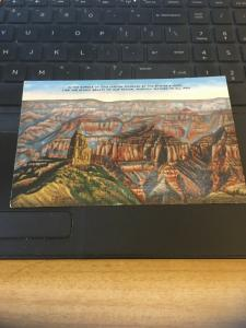 Vintage Postcard; Grand Canyon from Point Imperial , LH Dude Larsen