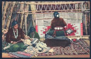 Navajo Rug Making in the Hogan unused c1939