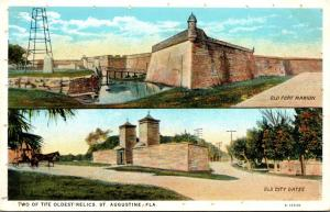 Florida St Augustine Fort Marion & Old City Gates Curteich