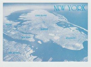 New York and Long Island postcard