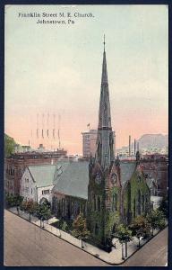 Franklin Street ME Church Johnstown Pennsylvania used c1914