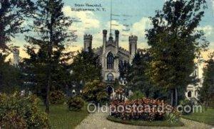 State Hospital Binghamton, NY, USA 1919