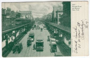 New York, Elevated Road and Bowery