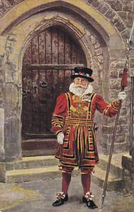 LONDON, England, 1900-1910´s; Tower Of London, A Yeoman Warder Of The Tower