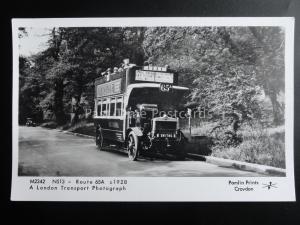 Omnibus London Bus Ealing Straßen NS13 Strecke 65A pamlin Aufdruck Postkarte
