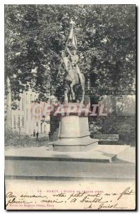 Old Postcard Nancy Statue of Joan of Arc