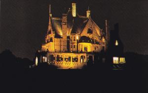 VICTORIA, British Columbia, Canada, 1940-1960's; Craigdarroch Castle, Illumin...